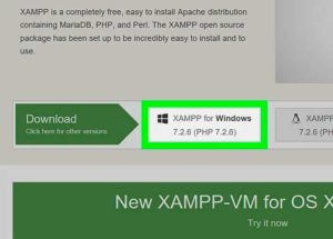 XAMPP installation step 1